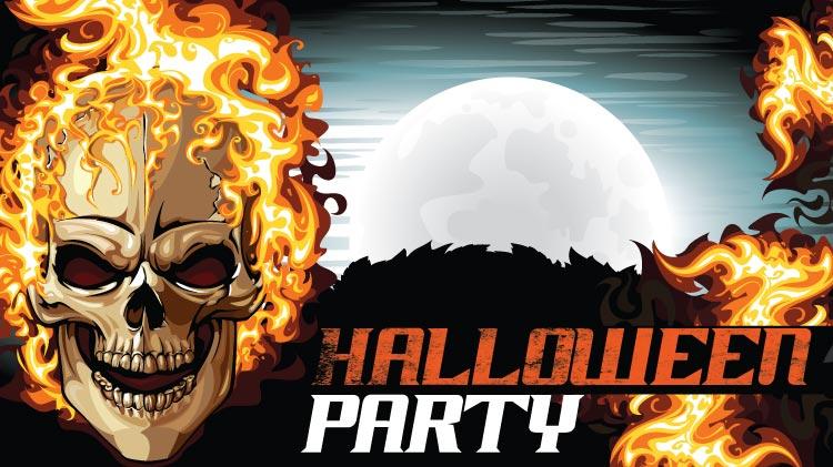 Halloween Ghostrider Party