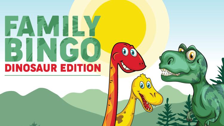 Family Bingo - Dinosaur Edition