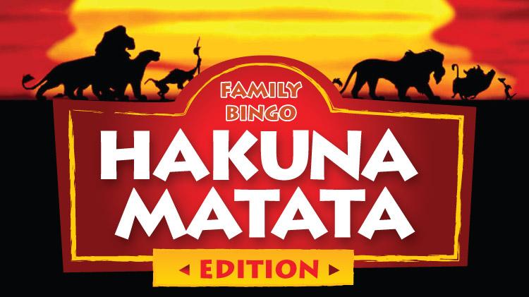 Family Bingo - Hakuna Matata Edition