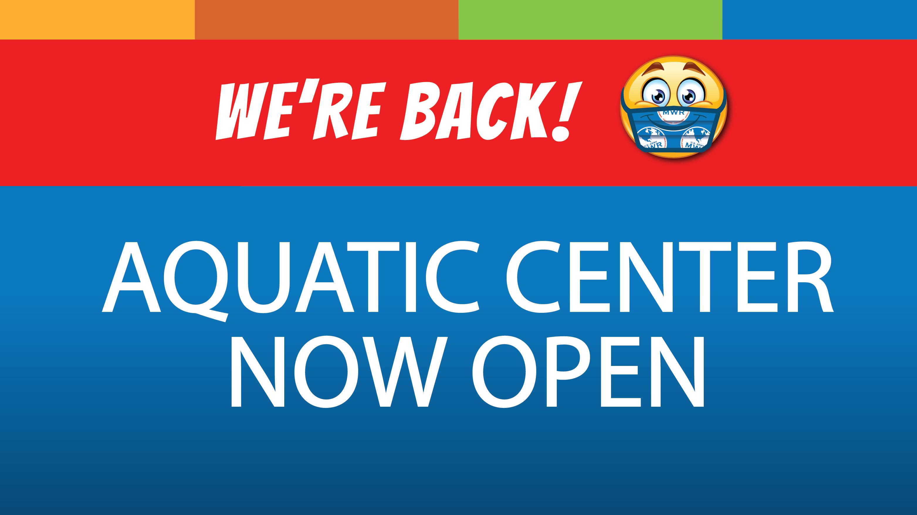 Aquatic Center Now Open