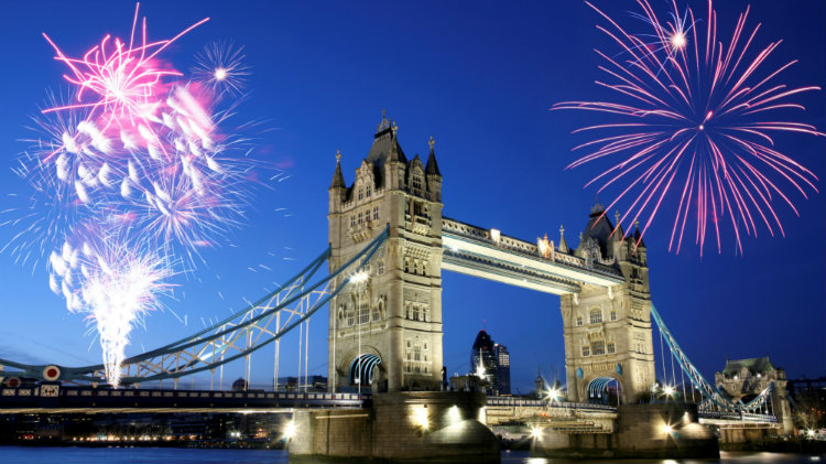 London Express and Lord Mayor's Day Fireworks