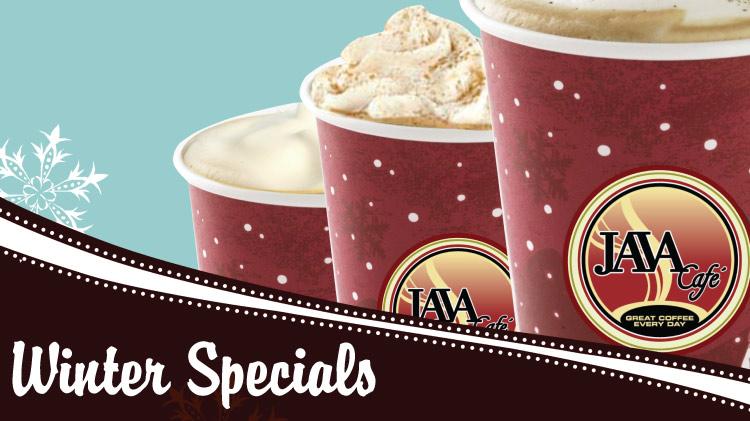 Java Cafe Winter Drink Specials