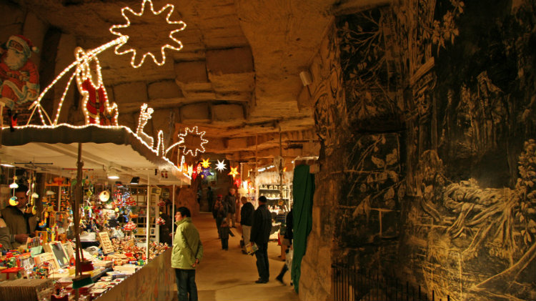 Valkenburg Caves and Aachen Christmas Market