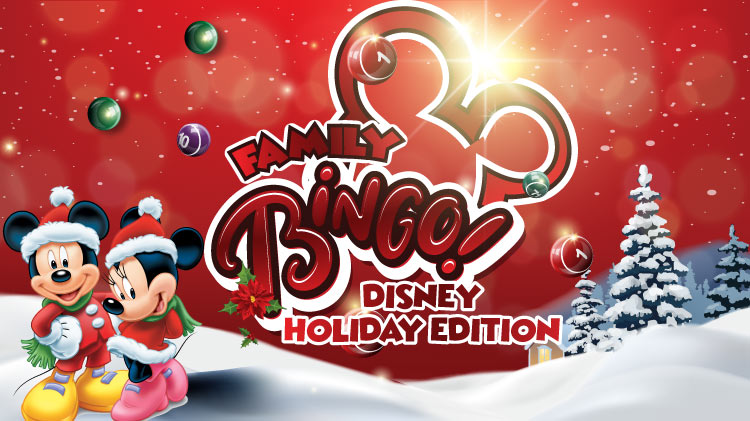 Family Bingo - Disney Holiday Edition