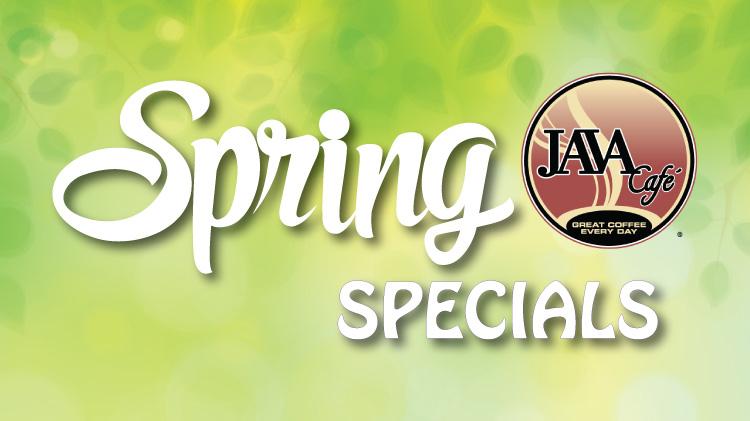 Java Café Spring Drink Specials